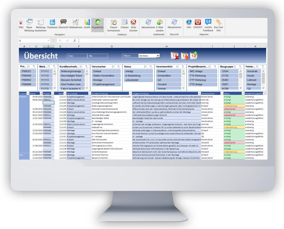 Lernfix obrazovka přehled